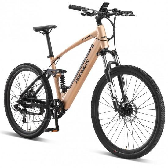 "Progear E-Trail MTB 27.5"" Dual Suspension Electric Bike"
